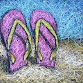 Pink Flip Flops by Karla Beatty