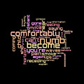 Pink Floyd - Comfortably Numb Lyrical Cloud by Susan Maxwell Schmidt