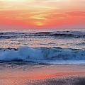 Pink Sunrise Panorama by Kaye Menner