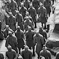 Pit 1 Of Terra Cotta Warriors In Black And White by Karen Foley