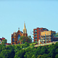 Pittsburgh Scene On Top by Roberta Byram