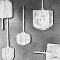 Pizza Paddles Black And White by Sharon Popek