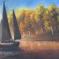 Plain Sailing, Boat Painting by Laurel Moore
