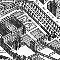 Plan Of Paris, Known As The Plan De Turgot, Engraved By Claude Lucas by Louis Bretez