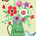 Flower Pot Thank You by Elizabeth Robinette Tyndall