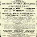 Playbill Poster For For La Scala, 1929-1930 Season by Italian School