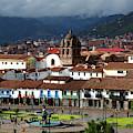 Plaza De Armas And La Merced Church Cusco Peru by James Brunker
