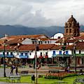 Plaza De Armas And La Merced Church Cuzco Peru by James Brunker