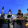 Plaza Murillo And Christmas Decorations La Paz Bolivia by James Brunker