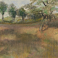 Ploughed Field Bordered By Trees by Edgar Degas