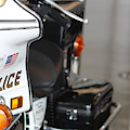 Police Motorcycle In President Reagan's Motorcade by Colleen Cornelius