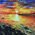 Pondicherry Beach Sunrise by Varun Rao