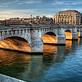 Pont-neuf And Samaritaine, Paris, France by Romain Villa Photographe