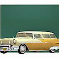 Pontiac Safari Station Wagon 1956 by Jan Keteleer