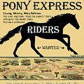 Pony Express Riders Want Add And Map by Lisa Redfern