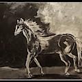 Pony Sketch In Black And White by Cheryl Nancy Ann Gordon