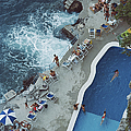 Pool On Amalfi Coast by Slim Aarons