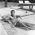 Pool Party At Dick Clarks by Michael Ochs Archives