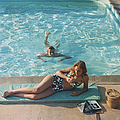 Poolside On Shelter Island by Slim Aarons