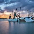 Port Orange Fishing Boats by Tom Singleton