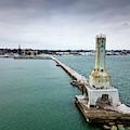 Port Washington Breakwater Light by Randy Scherkenbach