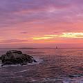 Portland Head Sunrise Pano by Michael Ver Sprill