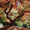 Portland Japanese Gardens Oil Paint Filter 081319 by Rospotte Photography