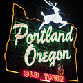 Portland Oregon White Stag Sign 071619 by Rospotte Photography