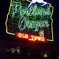 Portland White Stag Sign 030219 by Rospotte Photography