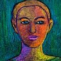 Portrait Of A Girl by Asha Sudhaker Shenoy