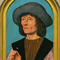 Portrait Of A Man With A Pink by Peter Barritt