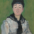 Portrait Of A Woman With A Black Fichu by Edouard Manet