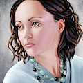 Portrait Of Christina Ricci by Sami Matilainen