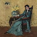Portrait Of Dora Wheeler by William Merritt Chase
