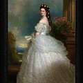 Portrait Of Empress Elisabeth Of Austria By Franz Xaver Winterhalter Full Po by Xzendor7