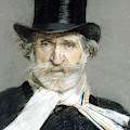 Portrait Of Giuseppe Verdi In 1886 by Giuseppe Boldini