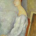 Portrait Of Jeanne Hebuterne, 1918 by Amedeo Modigliani