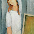 Portrait Of Jeanne Hebuterne With Her Left Arm Behind Her Head by Amedeo Modigliani
