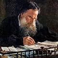 Portrait Of Leo Tolstoy by Ge Nikolai