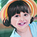 Portrait Of Little Girl. by Calin Vacaru