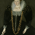 Portrait Of Lucy, Lady Reynell Of Ford by Marcus the Younger Gheeraerts