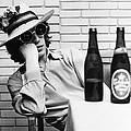 Portrait Of Mick Jagger With A Sun Hat by Keystone-france