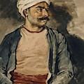 Portrait Of Mustapha by Gericault Theodore