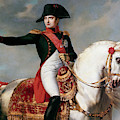 Portrait Of Napoleon Bonaparte Or Napoleon I During A Battle by Joseph Chabord