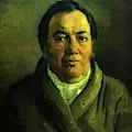 Portrait Of Nikolay O Ge Artist Father by Ge Nikolai