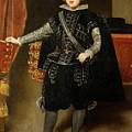 Portrait Of Philip Iv  by Diego Vel  zquez
