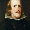 Portrait Of Philip Iv  King Of Spain  by Diego Vel  zquez