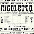 Poster Advertising Gustav Mahler Conducting Rigoletto by Austrian School
