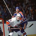 Potvin And Messier At Nassau Coliseum by B Bennett