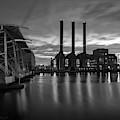 Power Station Providence Ri II Bw by David Gordon